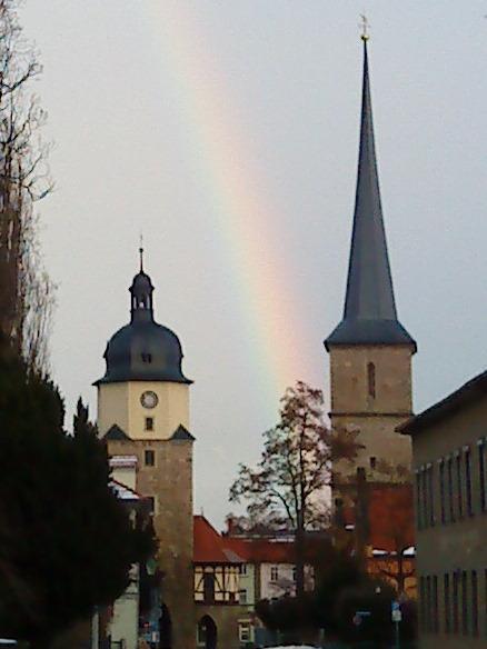 Regenbogen am Ried
