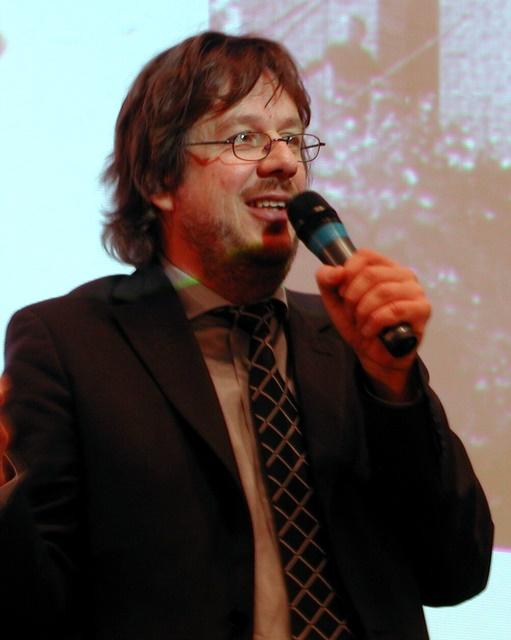 Jörg Kachelmann 2004 bei einem Klima-Forum in Erfurt