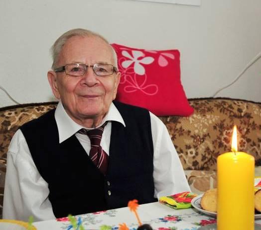 Heinrich Behr an seinem 85. Geburtstag. Foto: Christoph Vogel