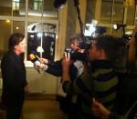 Helmut Roewer im Mediengewitter in Weimar