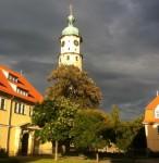 Neideckturm und Landratsamt in Arnstadt
